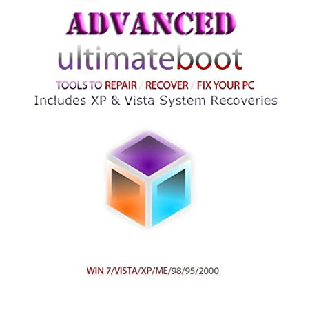Advanced Ultimate Boot CD / Disc Recovery Repair DOS Windows 7 XP Vista 95 98 - NEW 2012 Version 4.0