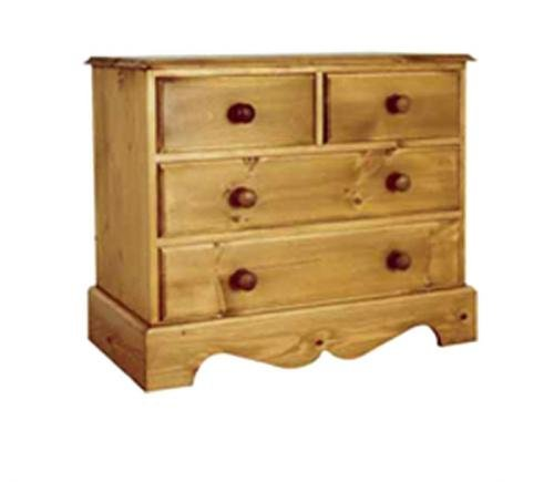 Wye Pine Cottage 2+2 Chest - Finish: Lacquer - Stain: Waterbased