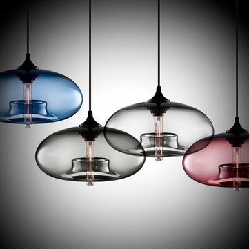 Modern Creative DIY Colorful Glass Pendant Light Restaurant Bar Hanging Ceiling Lamp Fixture