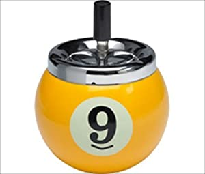 Novelty Items Nine-Ball Push Button Ash Tray