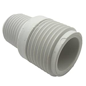 15-1631 PVC Hose Adapter with 3/4-Inch Male Hose Thread and 1/2-Inch