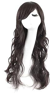 MapofBeauty Full Wavy Women's Wig Long Curly Lady's Wigs (Black) from MapofBeauty