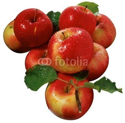 Wallmonkeys Peel and Stick Wall Decals - Apples - 24
