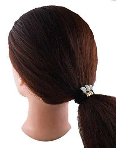 f38d6fd8db0ac Anuradha Art Black Colour Beautiful Styled With Stone Hair ...