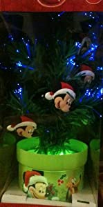 """Disney Mickey Mouse 18"""" Fiber Optic Color Changing Christmas Tree"""