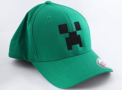 Minecraft Green Largex-large Creeper Flexfit Hat by Jinx