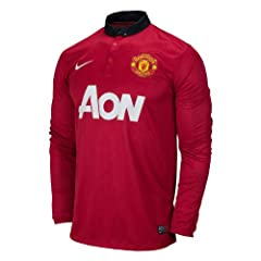 Manchester United Long Sleeves jersey 2013 2014 with official names by Nike
