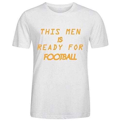Ready For Football Men Tees White (City Of Kokomo Jobs)