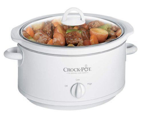 Crock-Pot 3735-Wn 3-1/2-Quart Slow Cooker, White Packagequantity: 1 Home & Kitchen