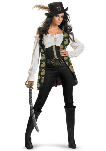 Disguise Women's Pirates of the Caribbean Deluxe Angelica Costume