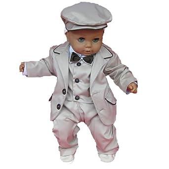 Baby festliches anzug set 6tlg braun taufanzug for Hochzeitsanzug baby junge