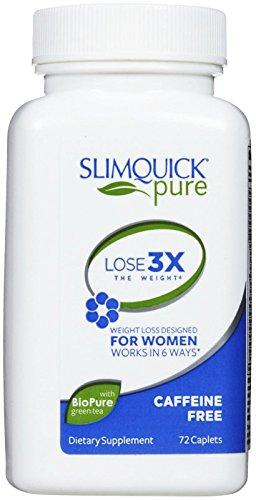 Slimquick Caffeine Free Clinical Strength, 72-Count Box