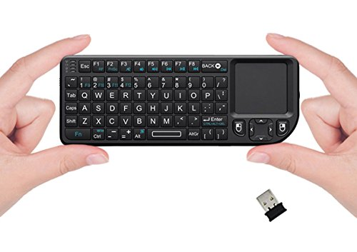 FAVI FE01 2.4GHz Wireless USB Mini Keyboard with Mouse Touchpad, Laser Pointer - USA Version (Warranty) - Black (FE01-BL) (Mobile Keyboard Touchpad compare prices)