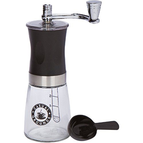 Casual Grounds Manual Coffee Grinder with Scoop Spoon