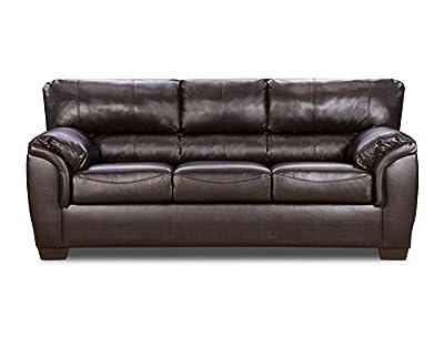 simmons upholstery 1797 03 london walnut bonded leather sofa nms3dw rh sites google com Black Bonded Leather Sofa Bonded Leather Modern Sectional Sofa