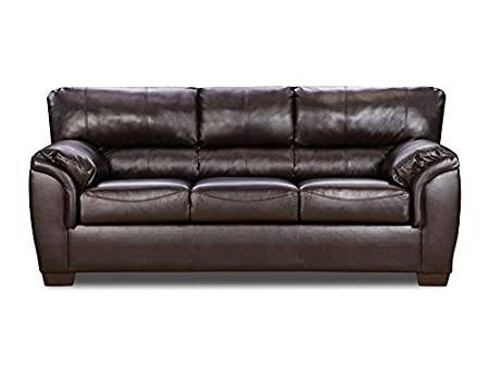 Simmons Upholstery 1797-03 London Walnut Bonded Leather Sofa