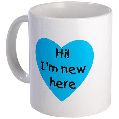 Cafepress Hi I'M New Here Blue Mug - Standard