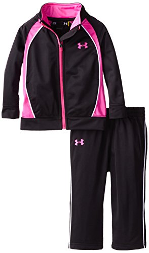 Under Armour Baby-Girls Infant Pregame Tricot Set, Black, 12 Months front-955529