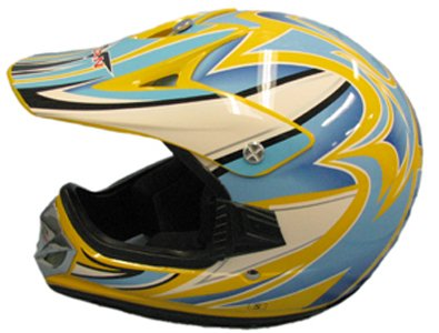MEDIUM NEW YELLOW YOUTH BMX ATV DIRT BIKE HELMET 310