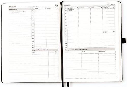 action day thread bound 2016 jan dec calendar planner journal 8 x