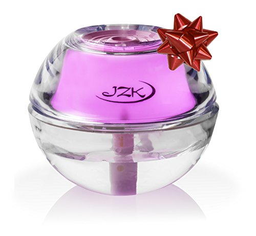 Humidifier for Sinusitis, Sinus Infection, Allergies, Nose Bleeds, Dry Sinuses by JZK - Mini Portable Quiet Humidifiers with Night Light, Auto Safety Shut-off, USB Cable, Adapter & Filter