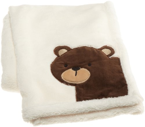 "Carter's Forest Friends Boa Blanket, Tan/Choc, 30 X 40"" (Discontinued by Manufacturer)"
