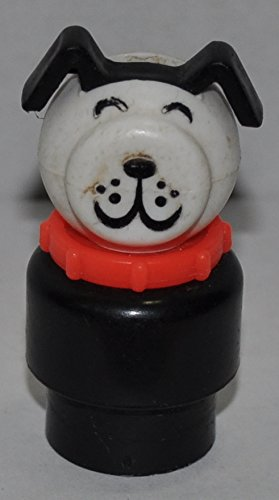 Vintage Doggie Dog (Red Collar, Plastic Base) - Replacement Figure - Classic Fisher Price Collectible Figures - Loose Out Of Package & Print (Oop) - Zoo Circus Ark Pet Castle front-107805