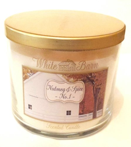 NUTMEG AND SPICE White Barn Bath and Body Works 14.5 oz Candle Autumn 2013