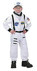 Aeromax Jr. Astronaut Suit with Embroidered Cap, White, size 6/8