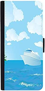 Snoogg Cruise Vector Designer Protective Phone Flip Case Cover For Apple Iphone 6S