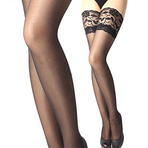 Coromose Sexy Lace Top Silicone Band Thigh High Stockings women ultrathin lace top sheer thigh high silk stockings fashion style new gh
