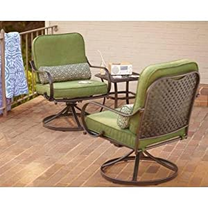 PATIO FURNITURE OUTDOOR LAWN & GARDEN HAMPTON BAY FALL RIVER WITH MOSS CUSHIONS 3 PC