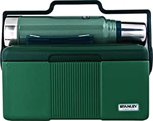 Stanley Adventure Heritage Cooler 7QT + Classic Vaccuum Bottle 1.1QT Combo Hammertone Green