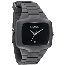 Big Sale Nixon Rubber Player Grey Black Mens Watch A139195