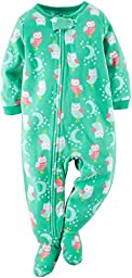 Carters Baby Girls Fleece Pajamas (Owl, 18 Months)