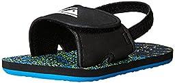 Quiksilver Molokai Layback Infant Sandal (Infant/Toddler), Black/Blue/Green, 3 M US Infant