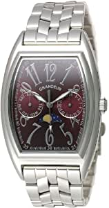 [グランドール]GRANDEUR 腕時計 トノー型 ムーンフェイズ カレンダー付き GSX018W2 メンズ GSX018W2