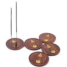 10 cm quemador de incienso de madera puede no estar en español y soporte para woofers de chapa metálica con diseño de latón con figura de buda para - Hexbug oruga