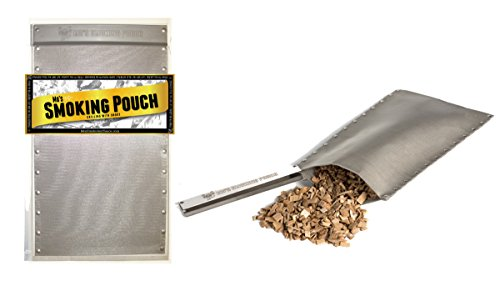 Smoking Pouch - Stainless Steel BBQ Hot or Cold Smoker Bag - Smokes Meat On Your Grill (Smoker Bags compare prices)