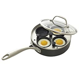 CHEFS Hard Anodized Egg Poacher Pan: 4-cup