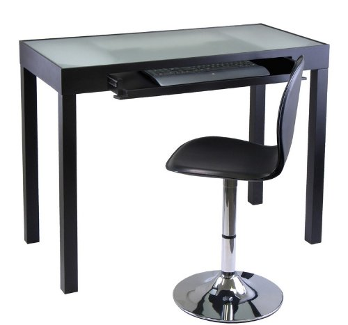 Buy Low Price Comfortable Darrel Computer Desk with Swivel Chair (Black) (31″H x 42.13″W x 20.47″D) (B00505C8XM)