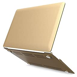iBenzer Neon Party Series Plastic Smooth Finish Case for Macbook Air 13-Inch - Gold