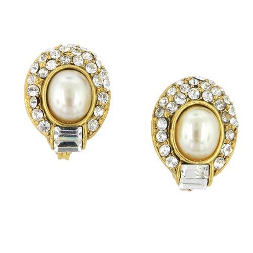Renaissance Swarovski Crystal Gold Earrings
