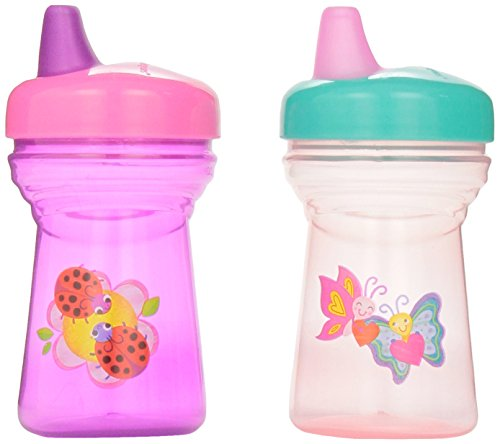 The First Years Soft Spout Sippy Cup - 9oz, 2 pack, Ladybug and Butterfly - 1