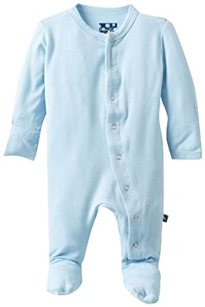 Kickee Pants Baby Boys Infant Solid Footie