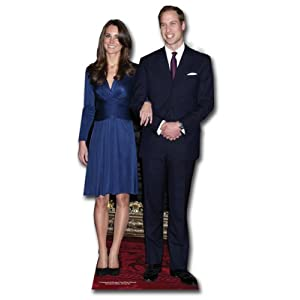 Prince William and Kate Middleton - British Royal Wedding 2011 - Lifesize Cardboard Cutout / Standee / Standup