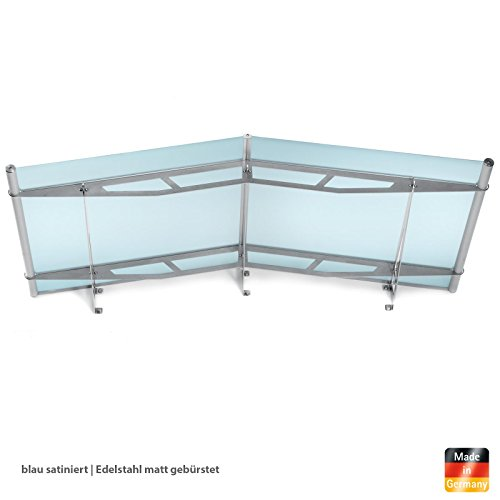 vordach haust r giebelvordach acrylglas edelstahl blau. Black Bedroom Furniture Sets. Home Design Ideas