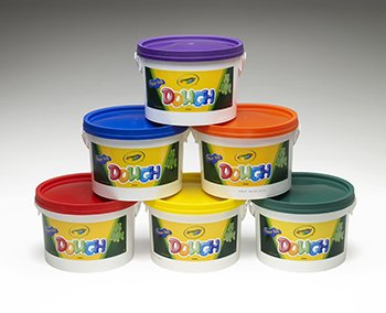 CRAYOLA LLC FORMERLY BINNEY & SMITH ORANGE GREEN YELLOW PURPLE BLUE CRAYOLA DOUGH SET OF 6 TUBS RED