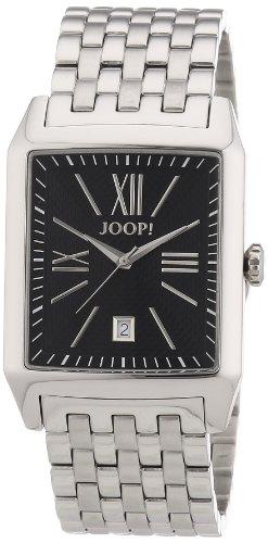 Joop JP101101F09 - Reloj analógico de cuarzo para hombre con correa de acero inoxidable, color plateado