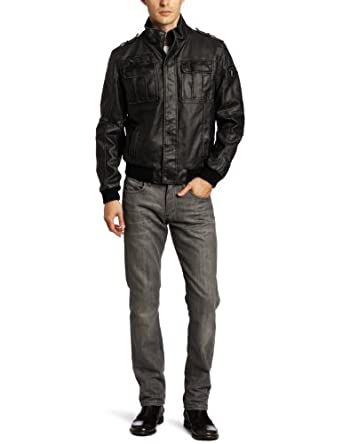 Calvin Klein Men's Moto Bomber Jacket, Black, Medium